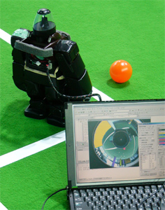Humanoid Robot with omnidirectional camera