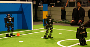 RoboCup Humanoid League 2 vs. 2 soccer games